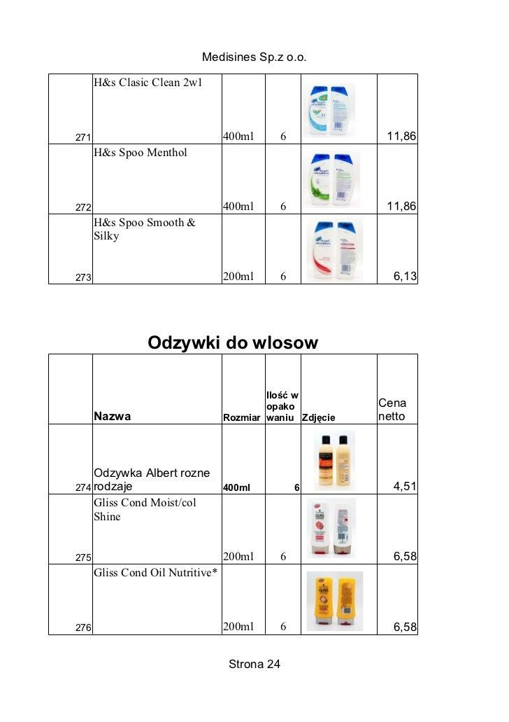 Medisines Sp.z o.o.      H&s Clasic Clean 2w1271                               400ml     6              11,86      H&s Spo...
