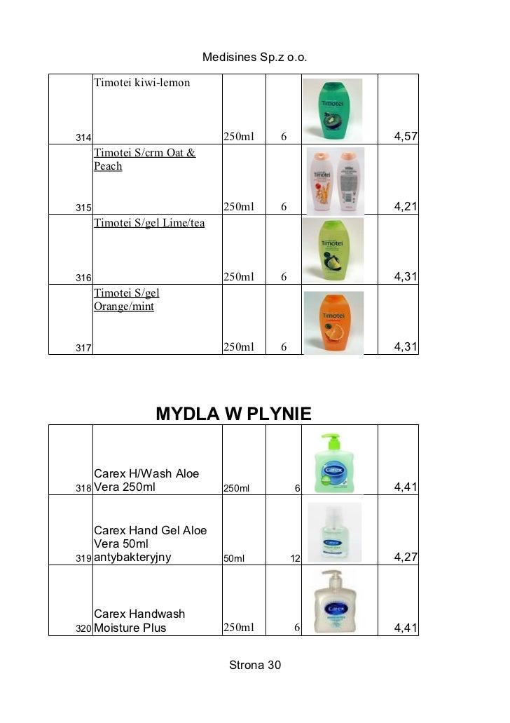 Medisines Sp.z o.o.      Timotei kiwi-lemon314                            250ml      6        4,57      Timotei S/crm Oat ...