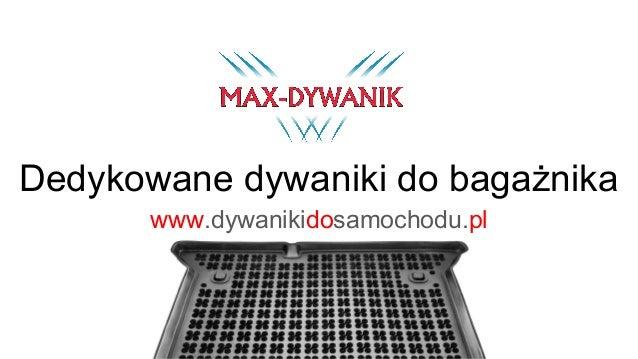 Dedykowane dywaniki do bagażnika www.dywanikidosamochodu.pl