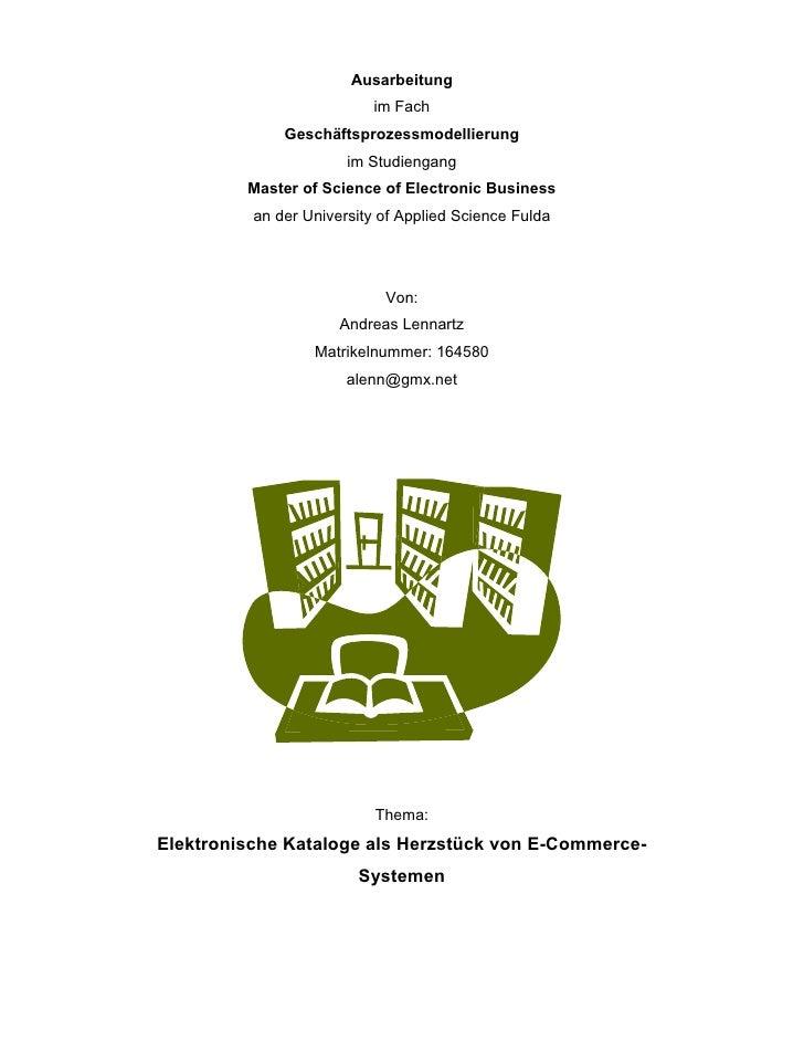Ausarbeitung                           im Fach              Geschäftsprozessmodellierung                       im Studieng...