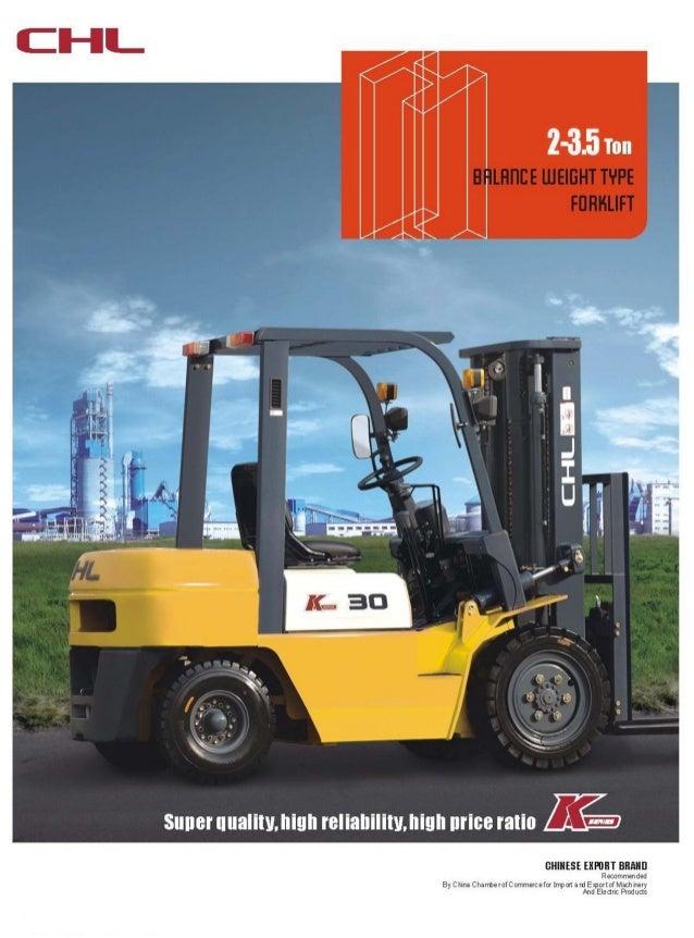 Katalog forklift chl diesel kapasitas 2 3.5 ton