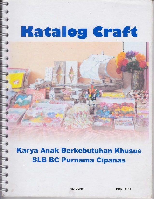 Katalog Kerajinan Tangan Slb Purnama Cipanas 4 0 Page Numbered Opt