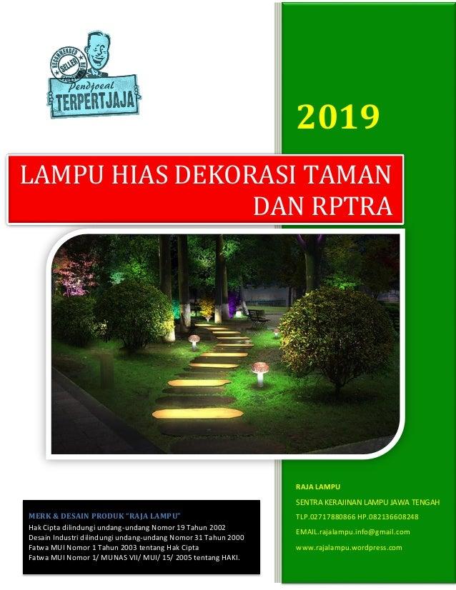 Daftar Harga Lampu Hias Taman Dekoratif Rptra 2019