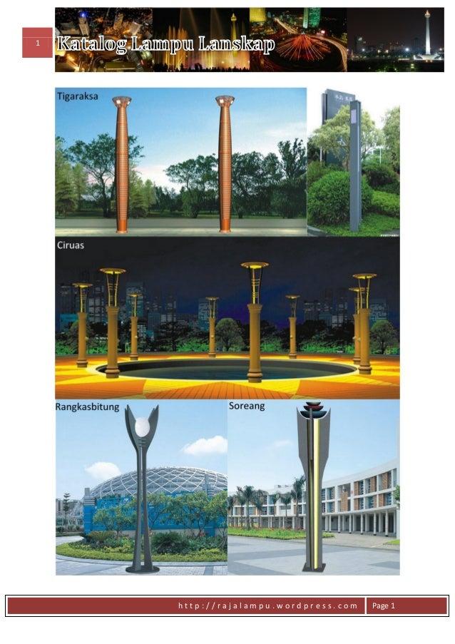 Daftar Harga Tiang Lampu Model Lanskap Slide 2
