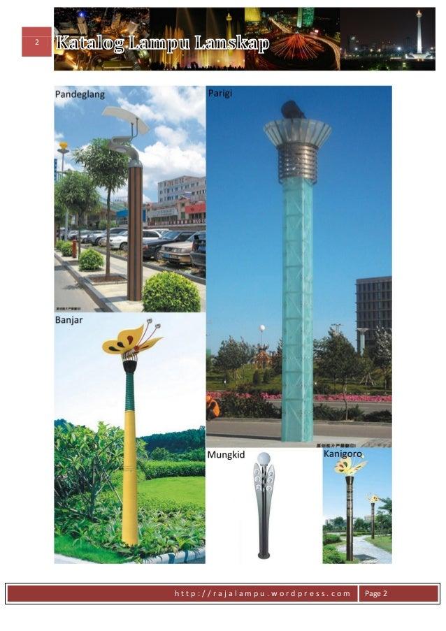 Daftar Harga Tiang Lampu Model Lanskap Slide 3