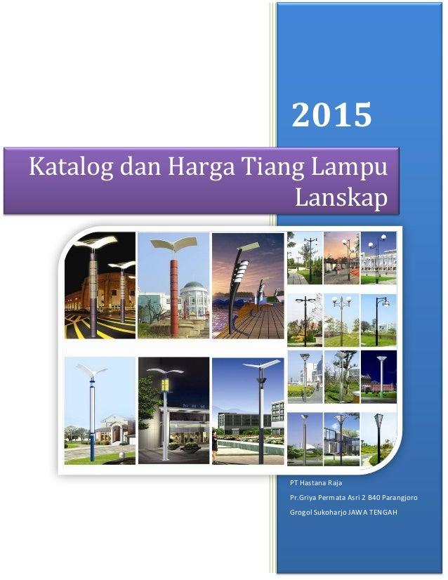 Katalog Dan Harga Tiang Lampu Taman Lanskap 2015