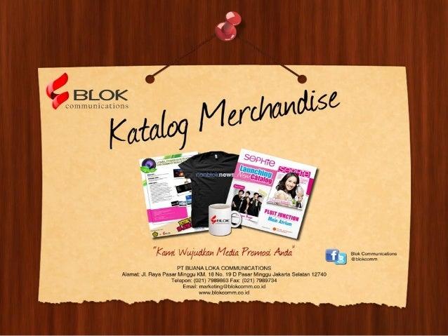 Katalog Merchandise