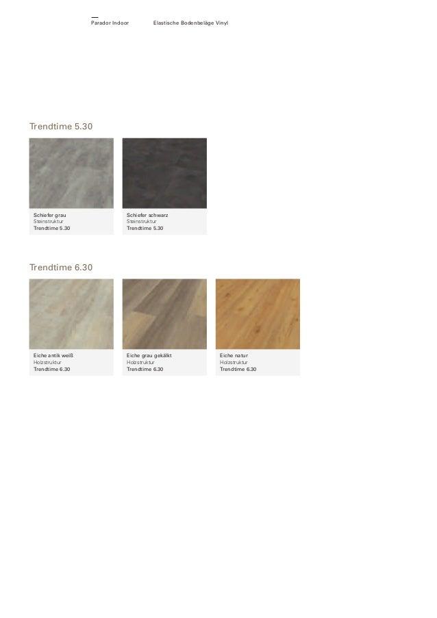 Parador Indoor  Elastische Bodenbeläge Vinyl  Trendtime 5.30  Schiefer grau Steinstruktur Trendtime 5.30  Schiefer schwarz...