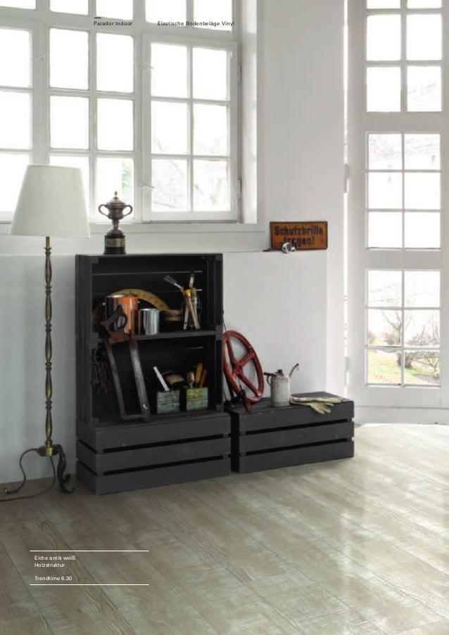 Parador Indoor  Eiche antik weiß Holzstruktur Trendtime 6.30  Elastische Bodenbeläge Vinyl