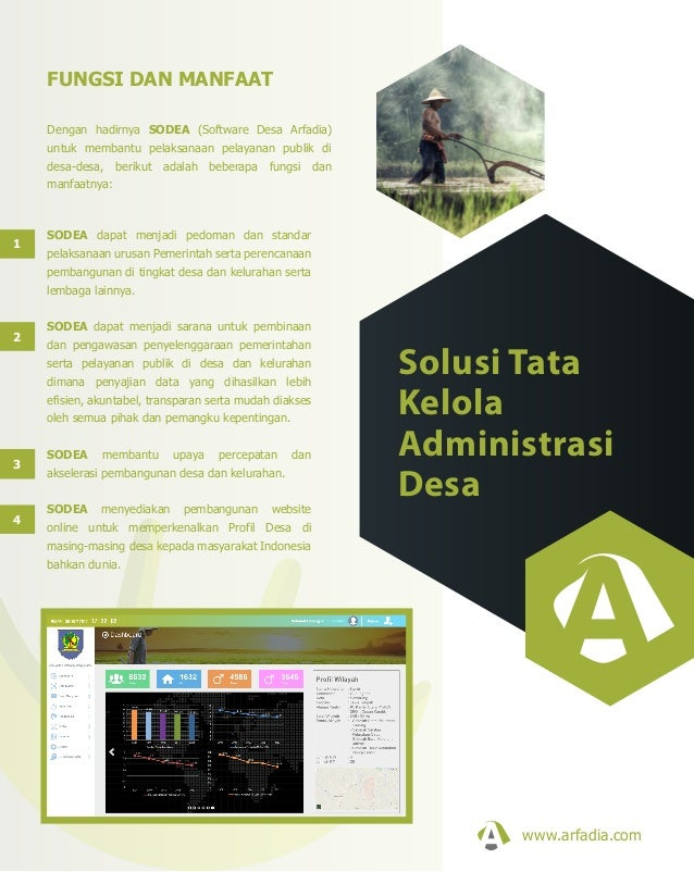 Dengan hadirnya SODEA (Software Desa Arfadia) untuk membantu pelaksanaan pelayanan publik di desa-desa, berikut adalah beb...