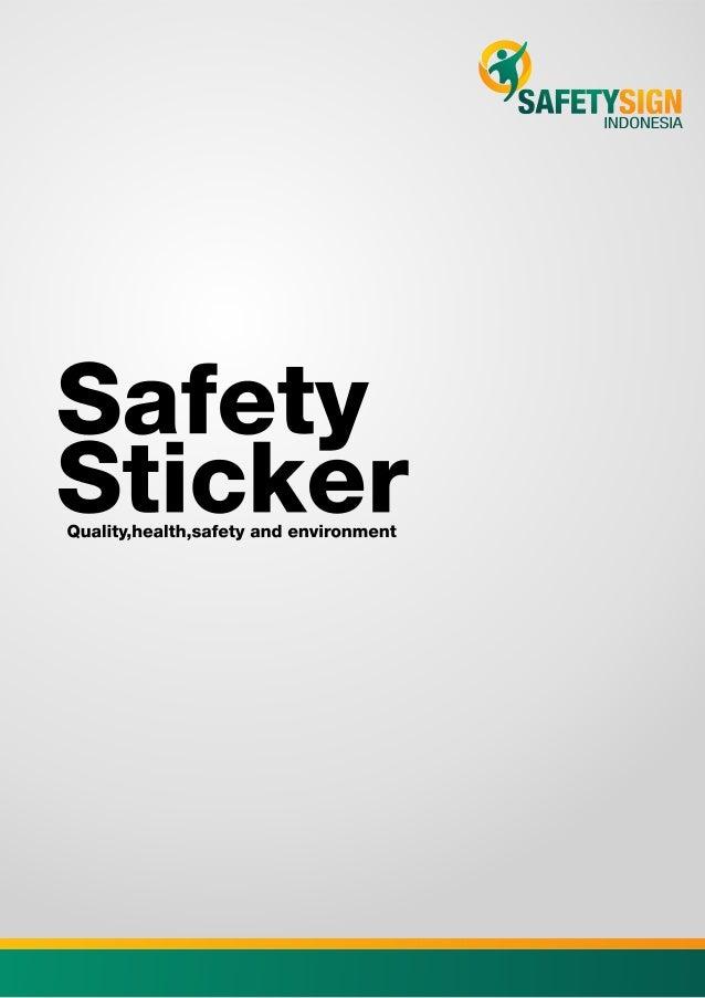 Katalog Safety Sticker - Agustus 2015