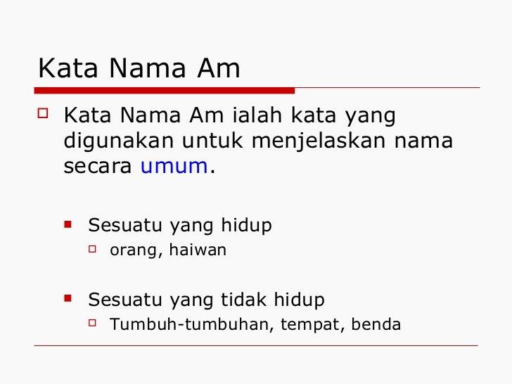 Kata Nama Am Dan Kata Nama Khas