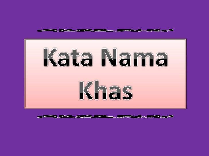 Kata Nama Khas