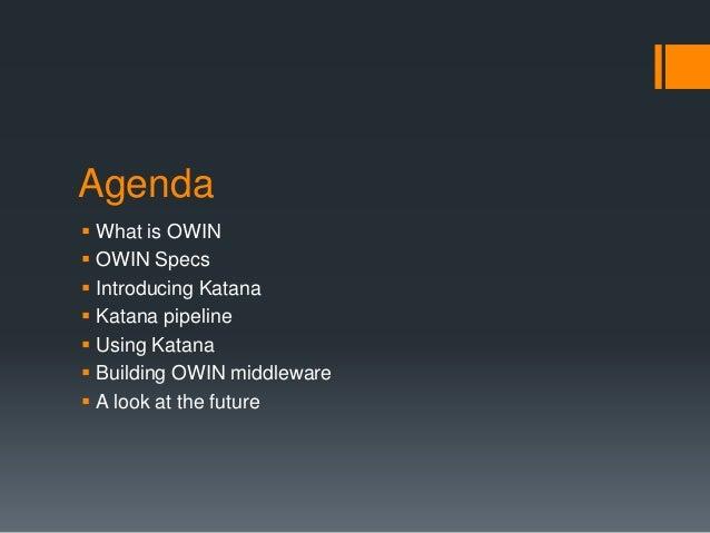 Owin and Katana Slide 2