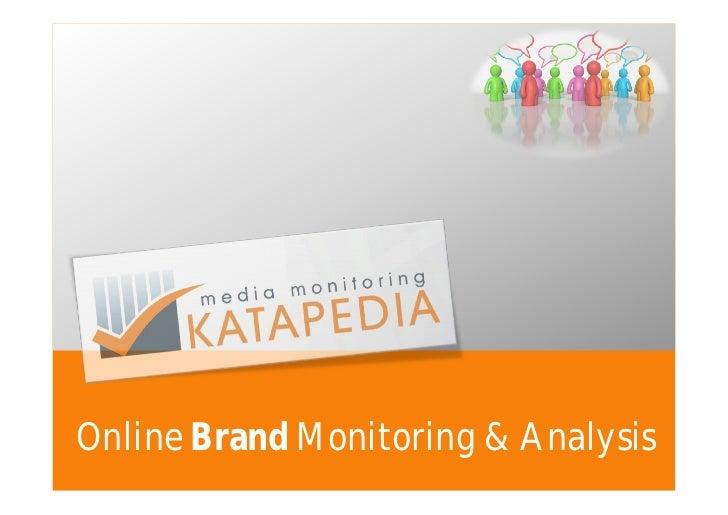 Online Brand Monitoring & Analysis
