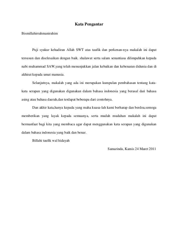 Contoh Preface Makalah Bahasa Inggris Aneka Macam Contoh