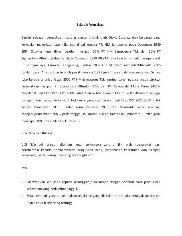 Sejarah Perusahaan Berdiri sebagai perusahaan dagang aneka produk oleh Djoko Susanto dan keluarga yang kemudian mayoritas ...
