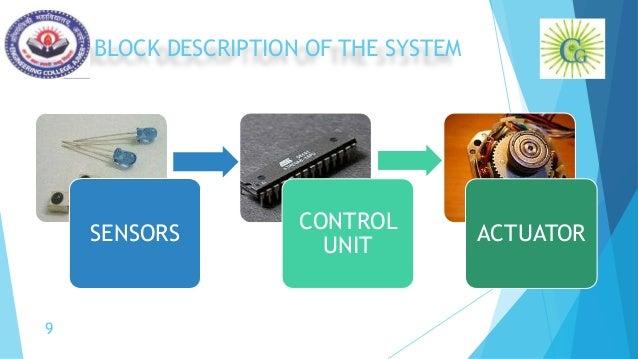 BLOCK DESCRIPTION OF THE SYSTEM SENSORS CONTROL UNIT ACTUATOR 9
