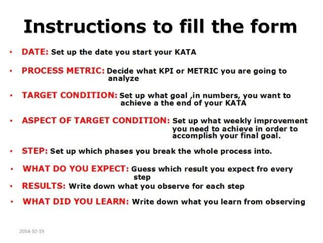 Kata Worksheet Form