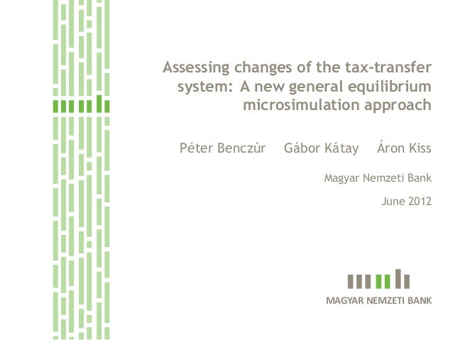 Assessing changes of the tax-transfer      system: A new general equilibrium               microsimulation approach      P...