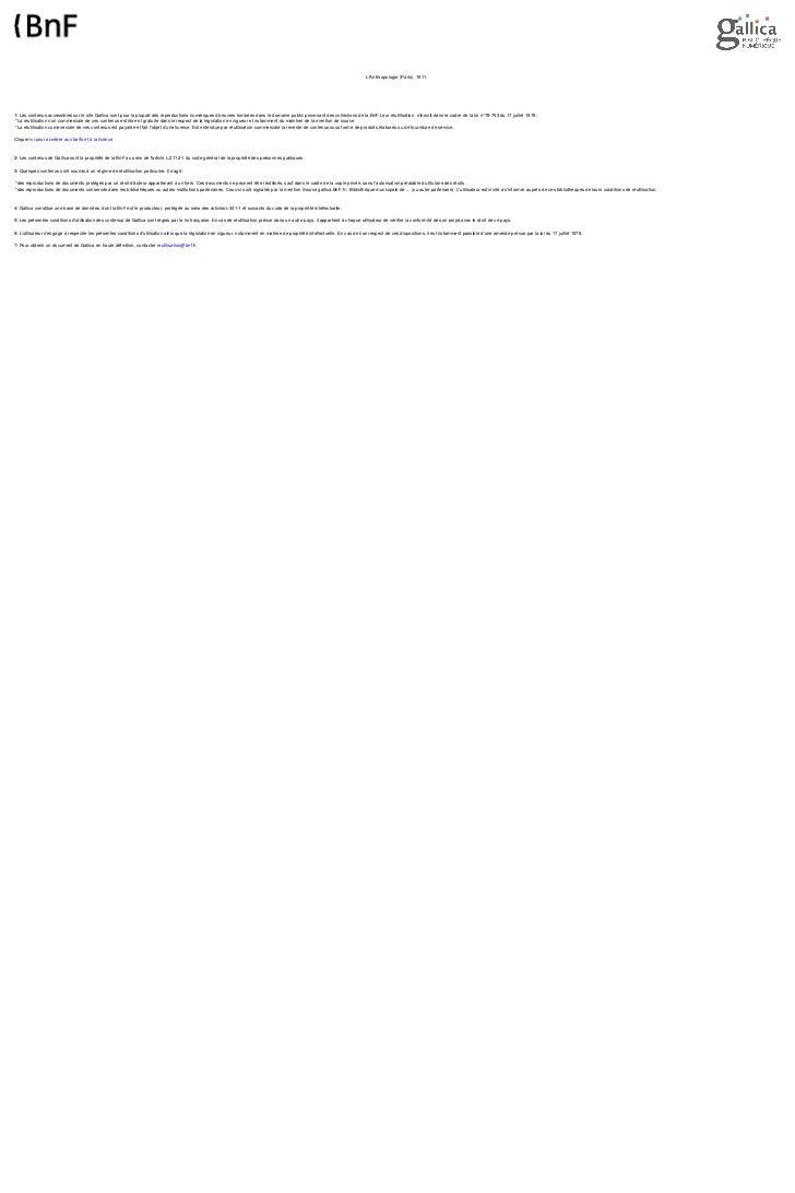 LAnthropologie (Paris). 1911.1/ Les contenus accessibles sur le site Gallica sont pour la plupart des reproductions numéri...