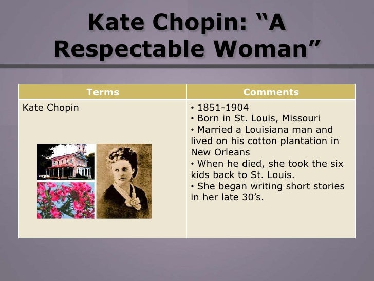 """the theme of marriage in kate chopins desires baby Chapter three: fits and misfits in the southern world of kate chopin's fiction   characters move in old south louisiana plantation society in """"désirée's baby""""  and in  the theme of the entrenched white patriarchy to illustrate the  significance of  achieved her purpose as a woman when she married thomas  sutpen and."""