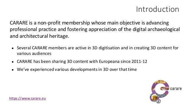 Sharing 3D Cultural Heritage Slide 2
