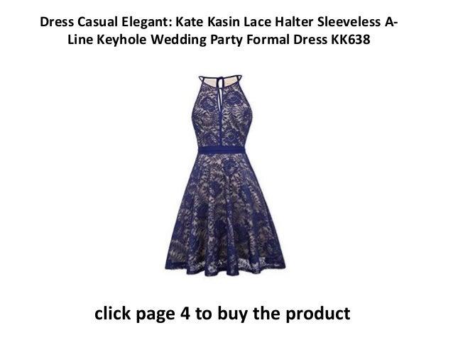 9744a18dd casual but elegant dresses Kate Kasin Lace Halter Sleeveless A-Line Keyhole  Wedding Party Formal Dress KK638 Dress Womens Elegant