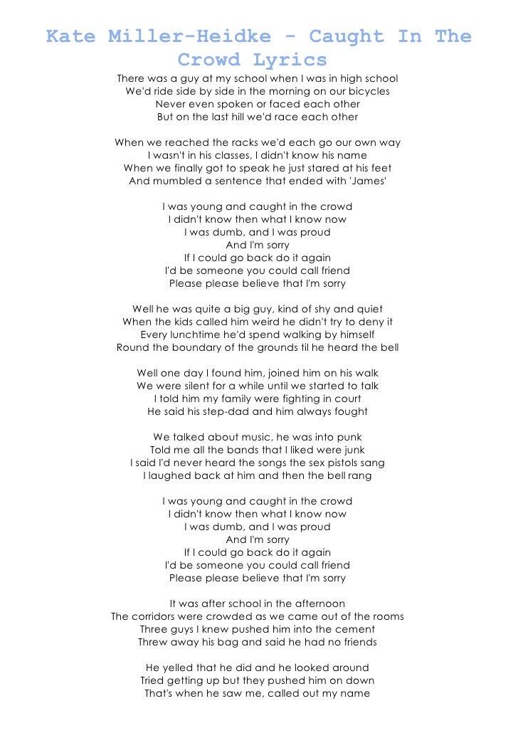 Lyric songs about sex lyrics : Kate miller song