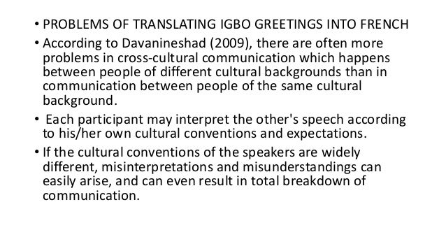 Translating greetings 18 problems of translating igbo greetings m4hsunfo