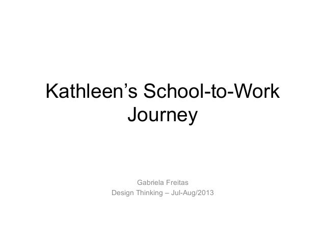 Kathleen's School-to-Work Journey Gabriela Freitas Design Thinking – Jul-Aug/2013