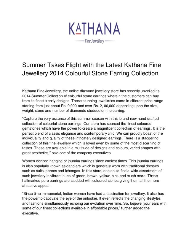 Summer Takes Flight with the Latest Kathana Fine Jewellery 2014 Colourful Stone Earring Collection Kathana Fine Jewellery,...