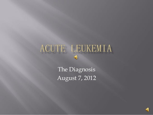 The Diagnosis August 7, 2012
