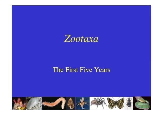 Jeyaraney Kathirithamb - ZooTaxa - the first five years