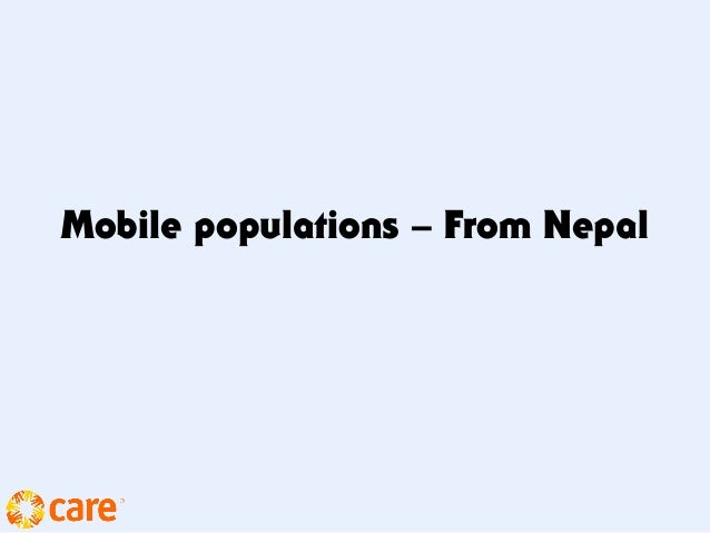Mobile populations – From Nepal