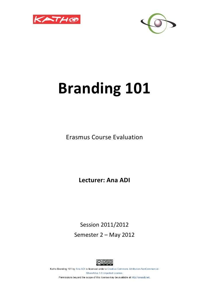 Branding 101                                                              ...
