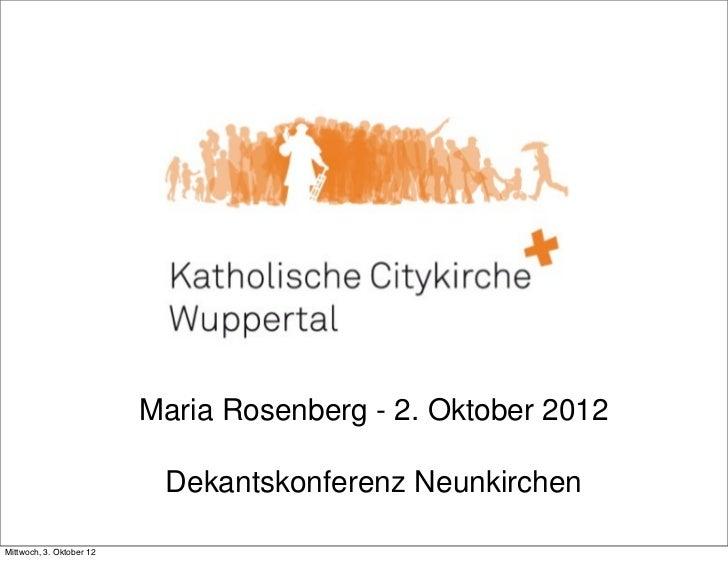 Maria Rosenberg - 2. 2. Oktober 2012                                             - Oktober 2012                           ...