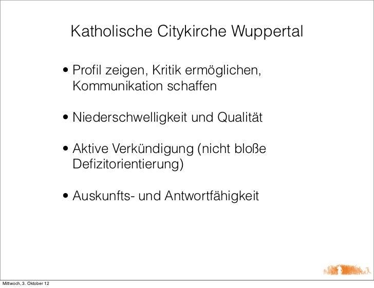 Katholische Citykirche Wuppertal                          • Profil zeigen, Kritik ermöglichen,                            K...