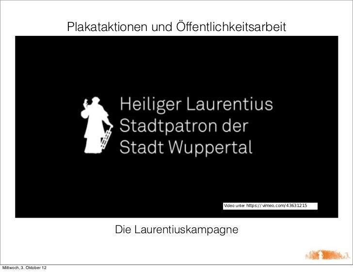 Plakataktionen und Öffentlichkeitsarbeit                                                      Video unter https://vimeo.co...