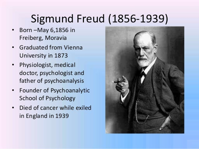 inside the head of sigmund freud One well known case examined by psychoanalyst sigmund freud was that of dr daniel schreber (1842-1911), an ambitious german judge who, as well as battling through numerous periods of illness, stood for election and published his own case history as a book which would become an influential talking.