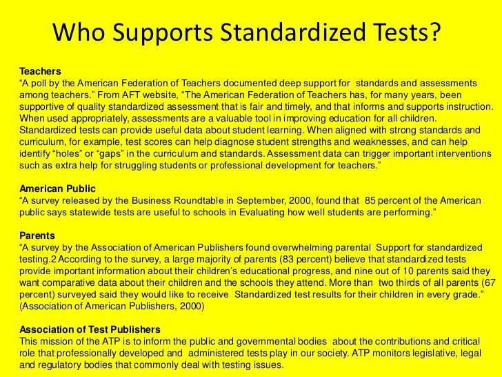 A Look at the Pros and Cons of Standardized Testing