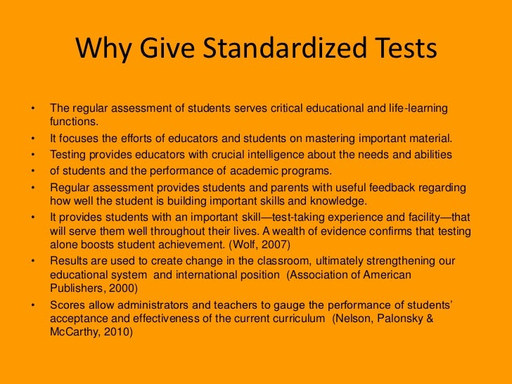 Argumentative essay about standardized testing