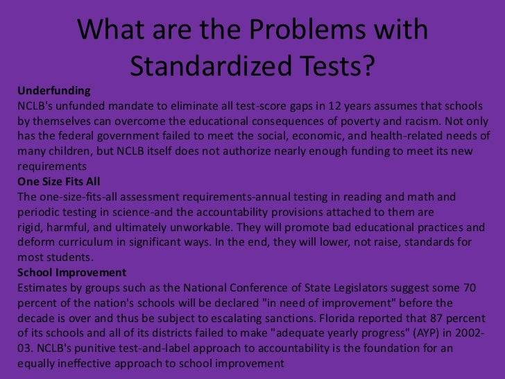 """should the government ban standardized testing """"opting out,"""" or refusing to take government-mandated standardized tests, is a   send the message that school time should be used for teaching and learning,."""
