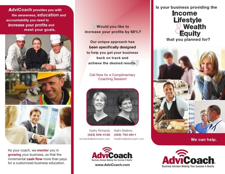 Is your business providing the AdviCoach provides you with  the awareness, education and                                  ...