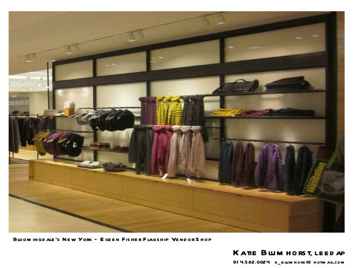 Bloomingdale's New York – Eileen Fisher Flagship Vendor Shop