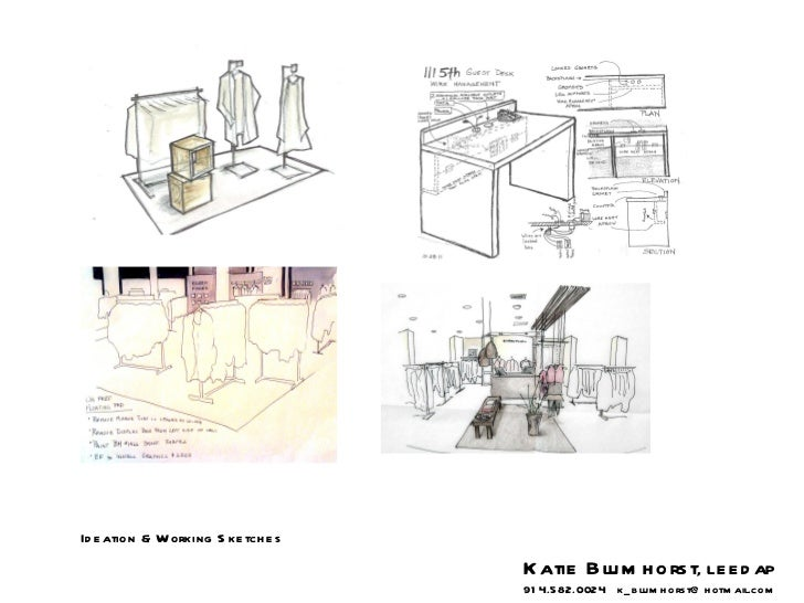 Ideation & Working Sketches