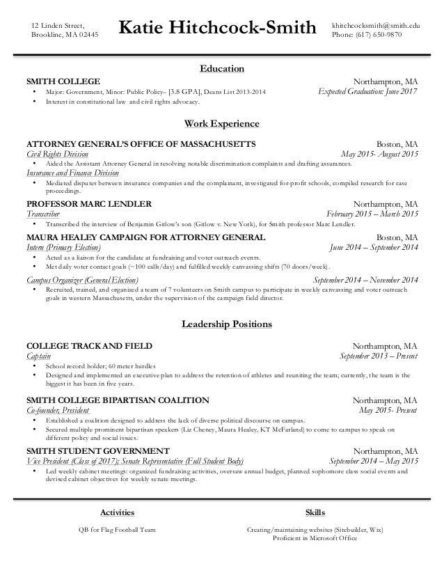 katie hitchcock smith resume