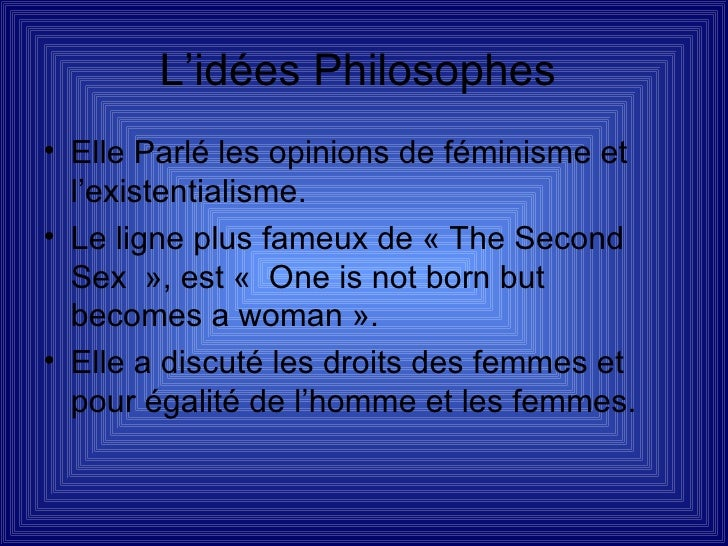 Katie Inglis  Simone De Beauvoir Slide 2