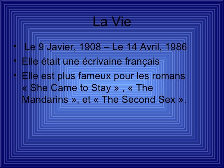 Katie Inglis  Simone De Beauvoir Slide 3