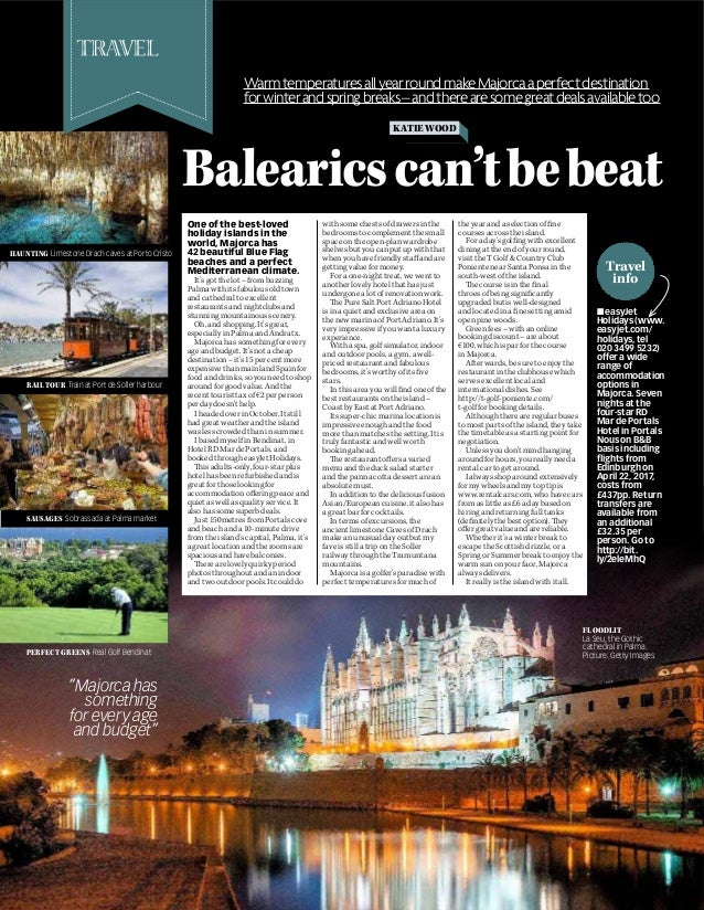 Travel info KATIEWOOD Balearicscan'tbebeat WarmtemperaturesallyearroundmakeMajorcaaperfectdestination forwinterandspringbr...